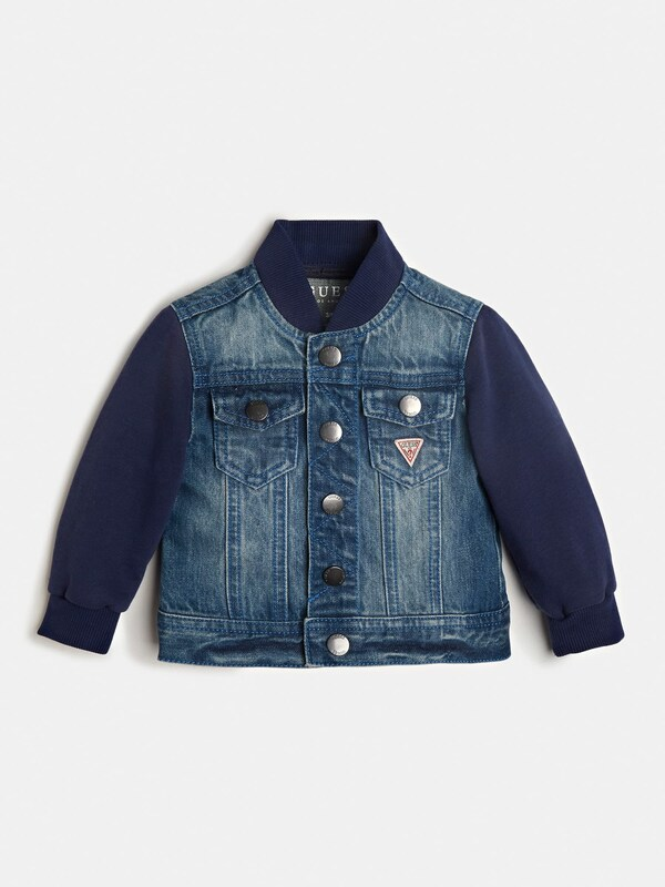 GUESS KIDS Jacke 'Vorne' in blue denim: Frontalansicht