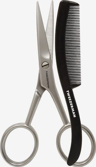 TWEEZERMAN Bartschere mit Kamm in silber, Produktansicht