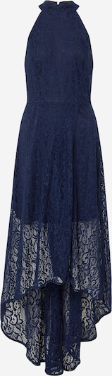 Mela London Avondjurk 'HIGH NECK HIGH LOW LACE MAXI DRESS' in de kleur Navy, Productweergave