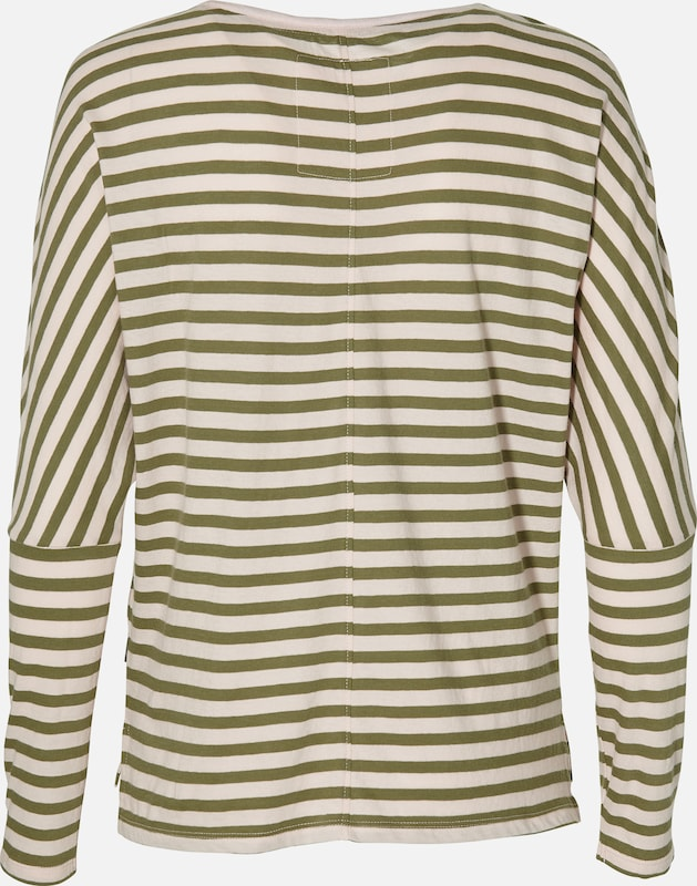 O'NEILL Shirt 'LW ESS STRIPED' in oliv / puder: Rückansicht