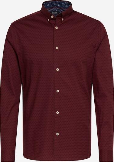 BURTON MENSWEAR LONDON Overhemd 'BURG ARIAL DIAMND' in de kleur Bourgogne, Productweergave