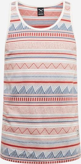 Maglietta 'Hipstos' Iriedaily di colore blu chiaro / rosso ruggine / guscio d'uovo, Visualizzazione prodotti