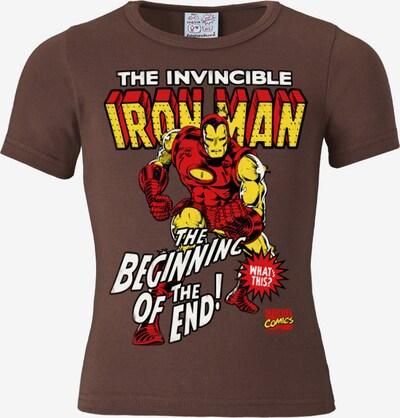 LOGOSHIRT T-Shirt in braun / gelb / rot / weiß, Produktansicht