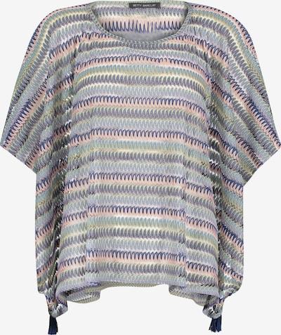 Betty Barclay Basic-Poncho ohne Verschluss in dunkelblau / rosé, Produktansicht