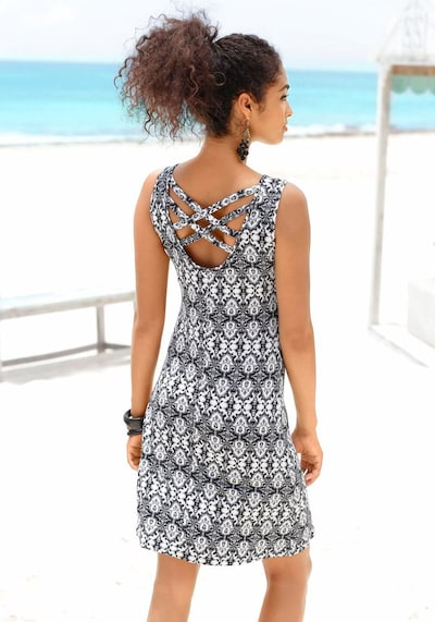 BUFFALO Strandkleid in anthrazit / naturweiß, Produktansicht