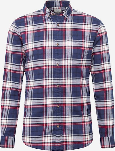 JACK & JONES Hemd in navy / rot / weiß, Produktansicht