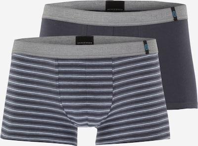 SCHIESSER Boxershorts  (2er Pack) in dunkelblau / grau / anthrazit, Produktansicht