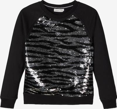 NAME IT Sweatshirt in schwarz / silber, Produktansicht