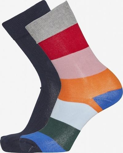 KnowledgeCotton Apparel Socken in mischfarben / schwarz, Produktansicht
