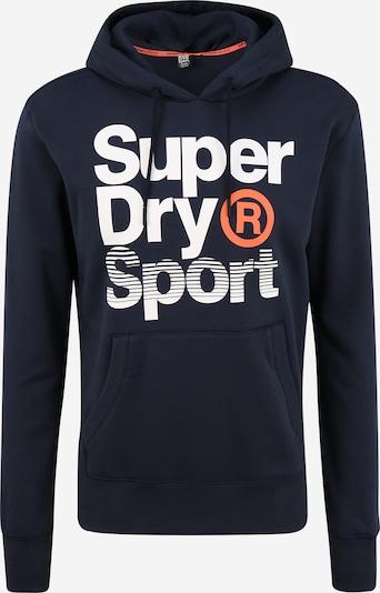 Superdry Sweatshirt 'CORE SPORT OVERHEAD' in dunkelblau / weiß, Produktansicht