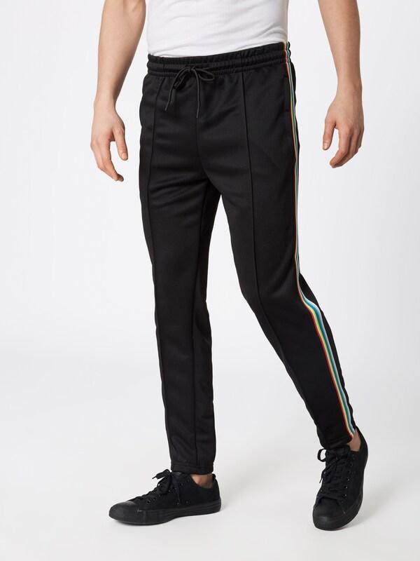 'side Taped Track Pantalon En Pants' Noir Classics Urban À Plis uTFJKl1c3