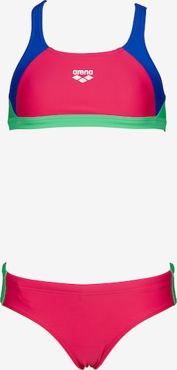 ARENA Bikini 'Ren' in blau / hellgrün / dunkelpink, Produktansicht