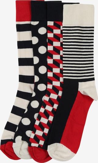Happy Socks Chaussettes en rouge pastel / noir / blanc cassé, Vue avec produit