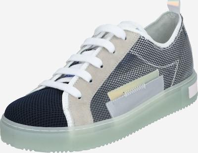 Donna Carolina Sneaker in beige / grün / schwarz: Frontalansicht