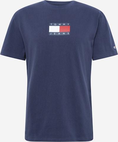 Tricou Tommy Jeans pe navy / roșu / alb: Privire frontală