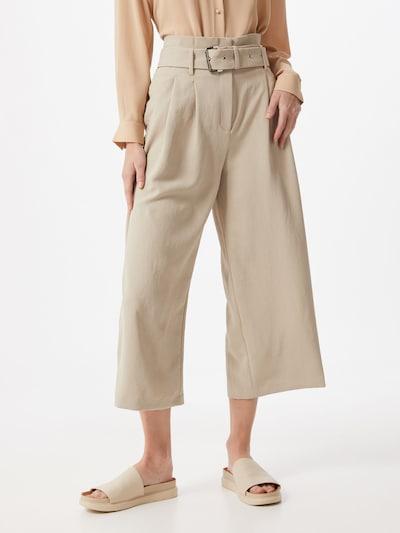 Pantaloni cutați MICHAEL Michael Kors pe bej, Vizualizare model
