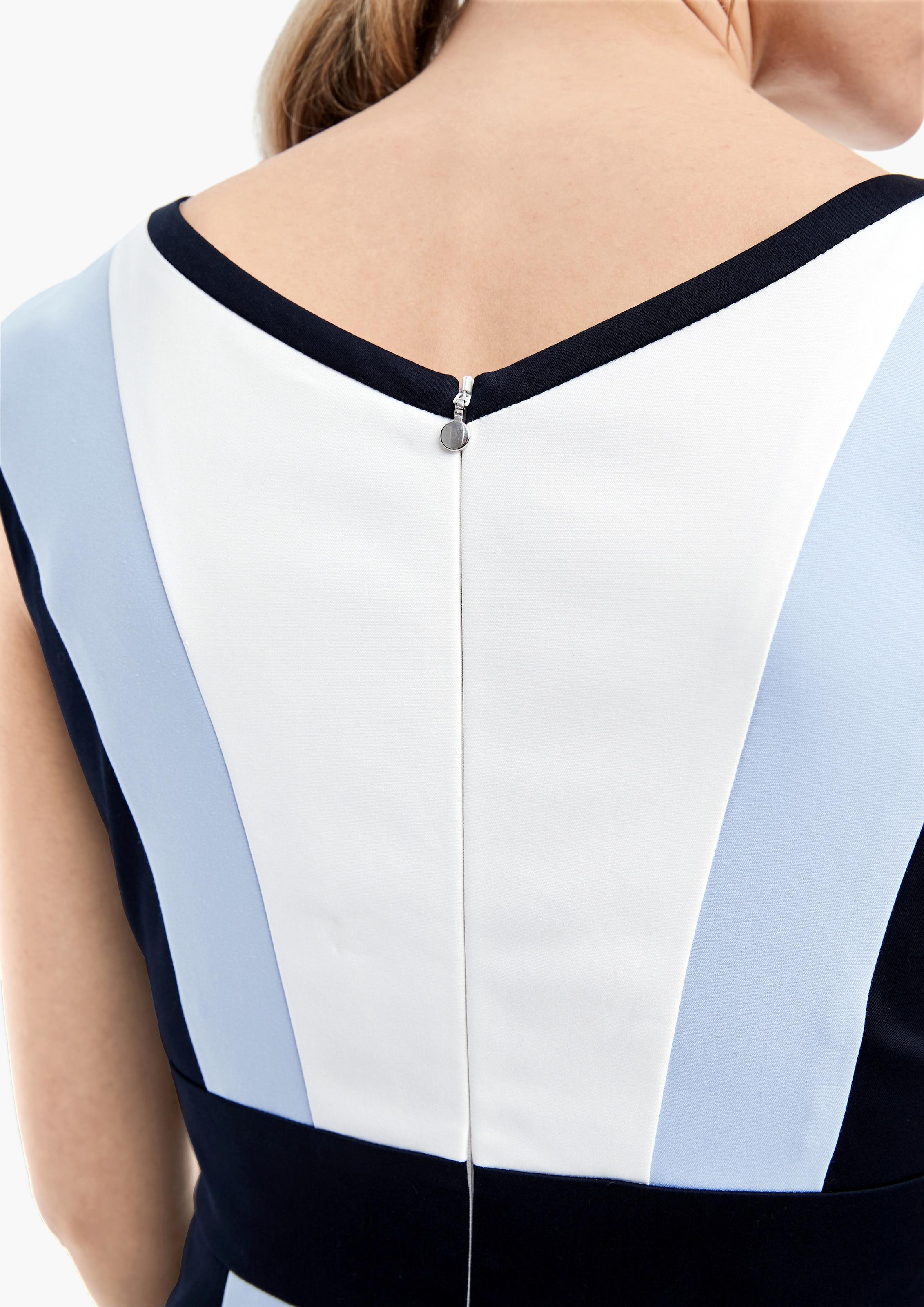 s.Oliver BLACK LABEL Princesszruhák világoskék / fehér színben