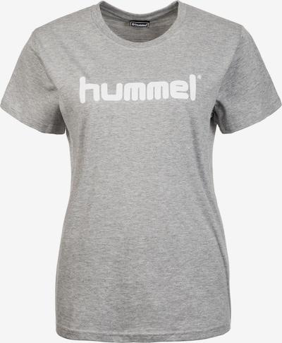 Hummel Functioneel shirt in de kleur Grijs / Wit, Productweergave