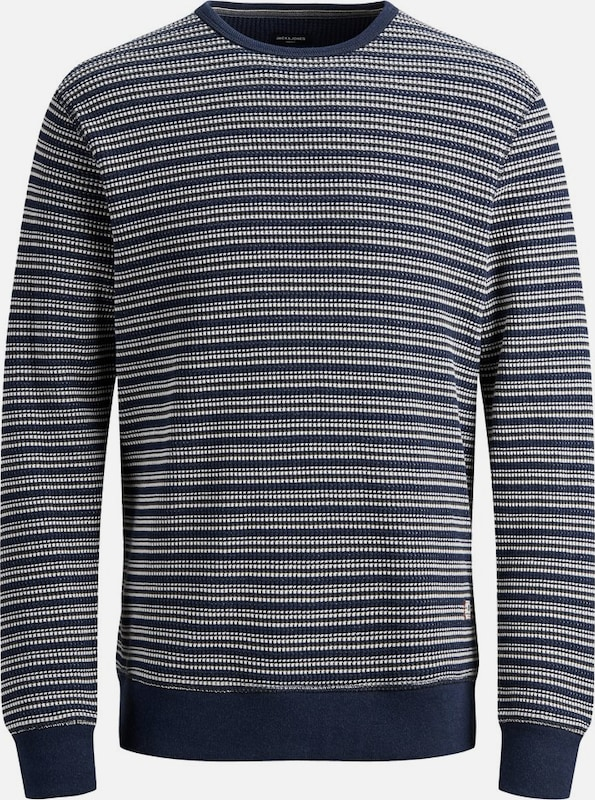 JACK & JONES Sweatshirt in blau / weiß: Frontalansicht