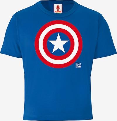 LOGOSHIRT T-Shirt 'Captain America' in blau, Produktansicht