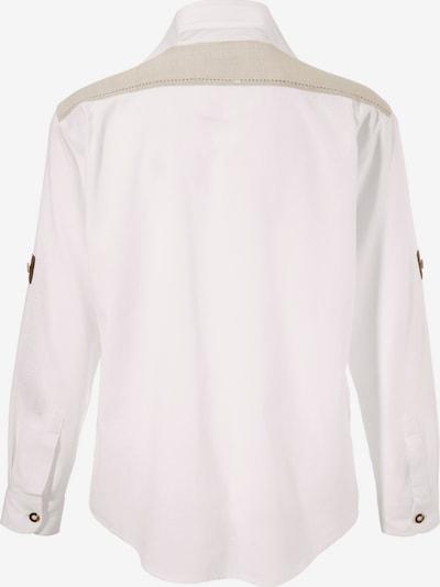 OS-TRACHTEN Trachtenhemd im Landhausstil in beige / weiß, Produktansicht