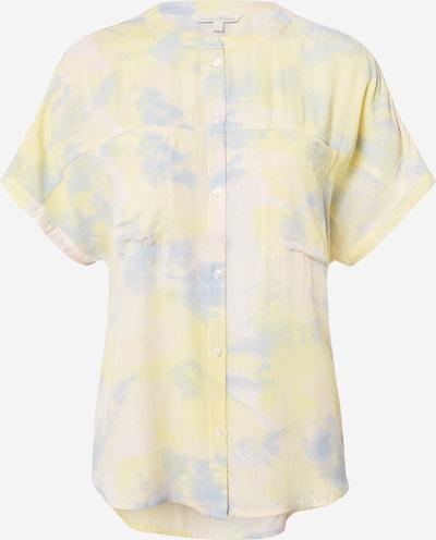 TOM TAILOR DENIM Bluse in opal / pastellgelb / pastellpink, Produktansicht
