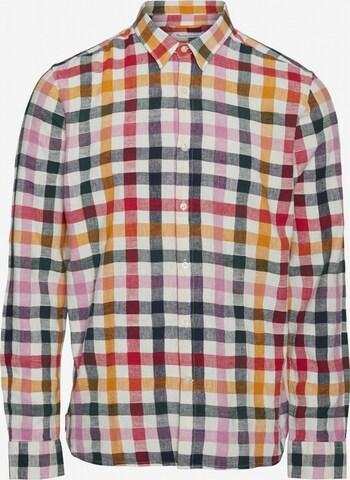 KnowledgeCotton Apparel Hemd 'Larch' in Mischfarben