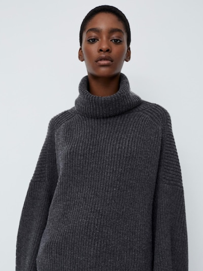LeGer by Lena Gercke Pull-over 'Evelyn' en gris chiné, Vue avec modèle