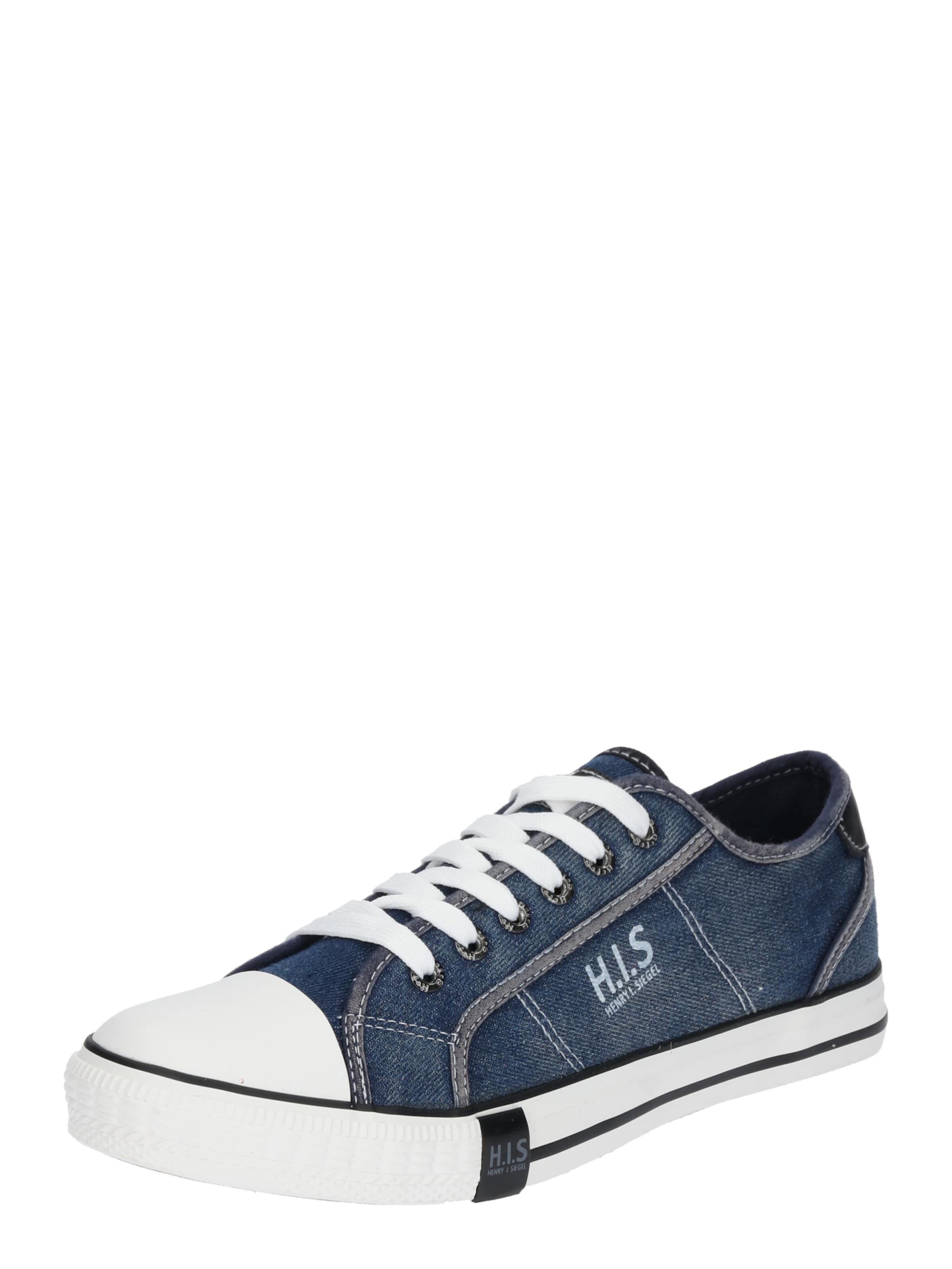 H.I.S Sneaker im Canvas-Look schwarz / weiß wgDD3zwZ6m