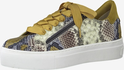 MARCO TOZZI Sneaker in beige / taubenblau / safran / grau, Produktansicht