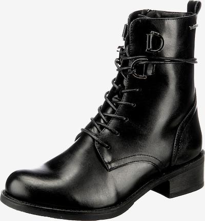 TOM TAILOR Schnürstiefelette in schwarz, Produktansicht