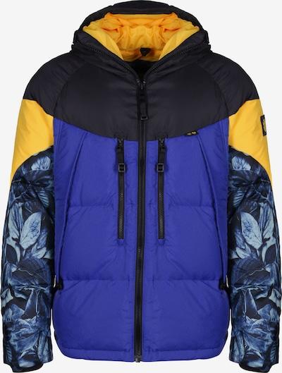 ELEMENT Winterjas 'Griffin Heavy' in de kleur Blauw / Nachtblauw / Geel, Productweergave