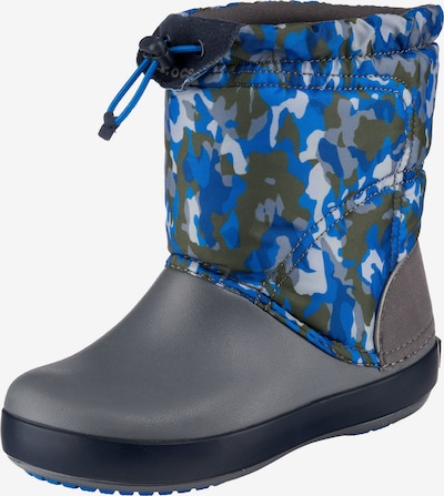 Crocs Winterstiefel in blau / grau / khaki / naturweiß, Produktansicht