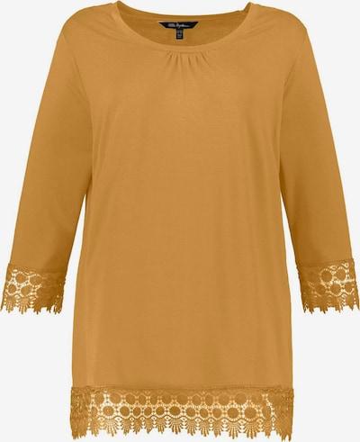 Ulla Popken Bluza 'Shirt 3/4 Arm mit Spitzensaum, A-LINIE' | gorčica barva, Prikaz izdelka