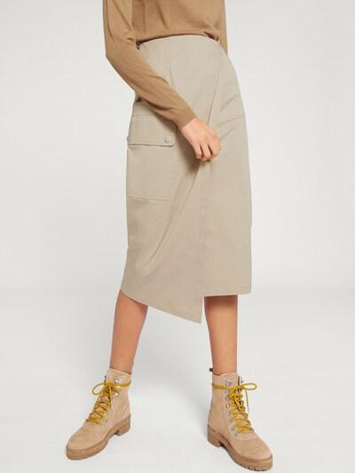 EDITED Spódnica 'Bryleigh' w kolorze beżowy / camelm, Podgląd na modelu(-ce)