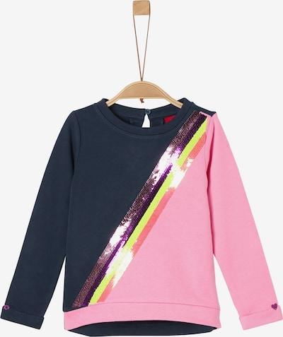 s.Oliver Sweatshirt in dunkelblau / rosa, Produktansicht