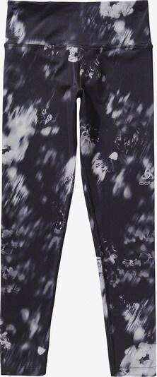 ODLO Leggings 'Light AOP' in schwarz / weiß, Produktansicht