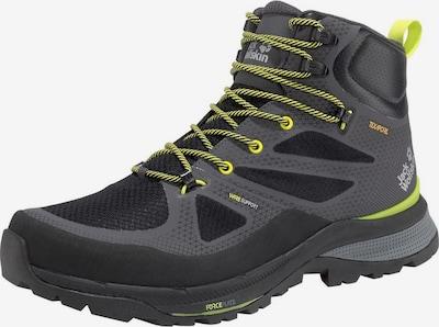 JACK WOLFSKIN Boots 'Force Striker' in de kleur Grijs / Limoen / Zwart, Productweergave