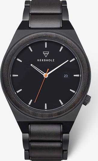 Kerbholz Armbanduhr in schwarz, Produktansicht