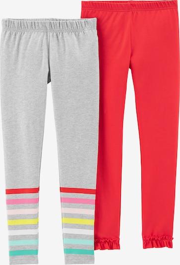 Carter's Leggings in graumeliert / rot, Produktansicht