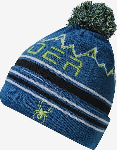SPYDER Mütze 'Icebox' in blau / apfel / schwarz / weiß, Produktansicht