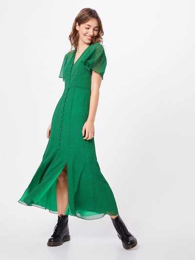 Whistles Kleid 'CECILY CHECK DRESS' in grün, Modelansicht