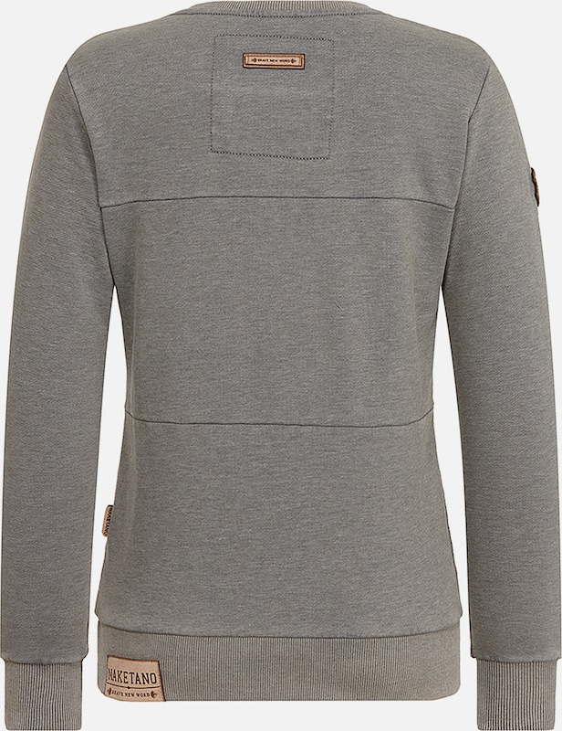En shirt Gris Chiné 'daisy Entenarsch' Sweat Naketano sBxQdtrhC