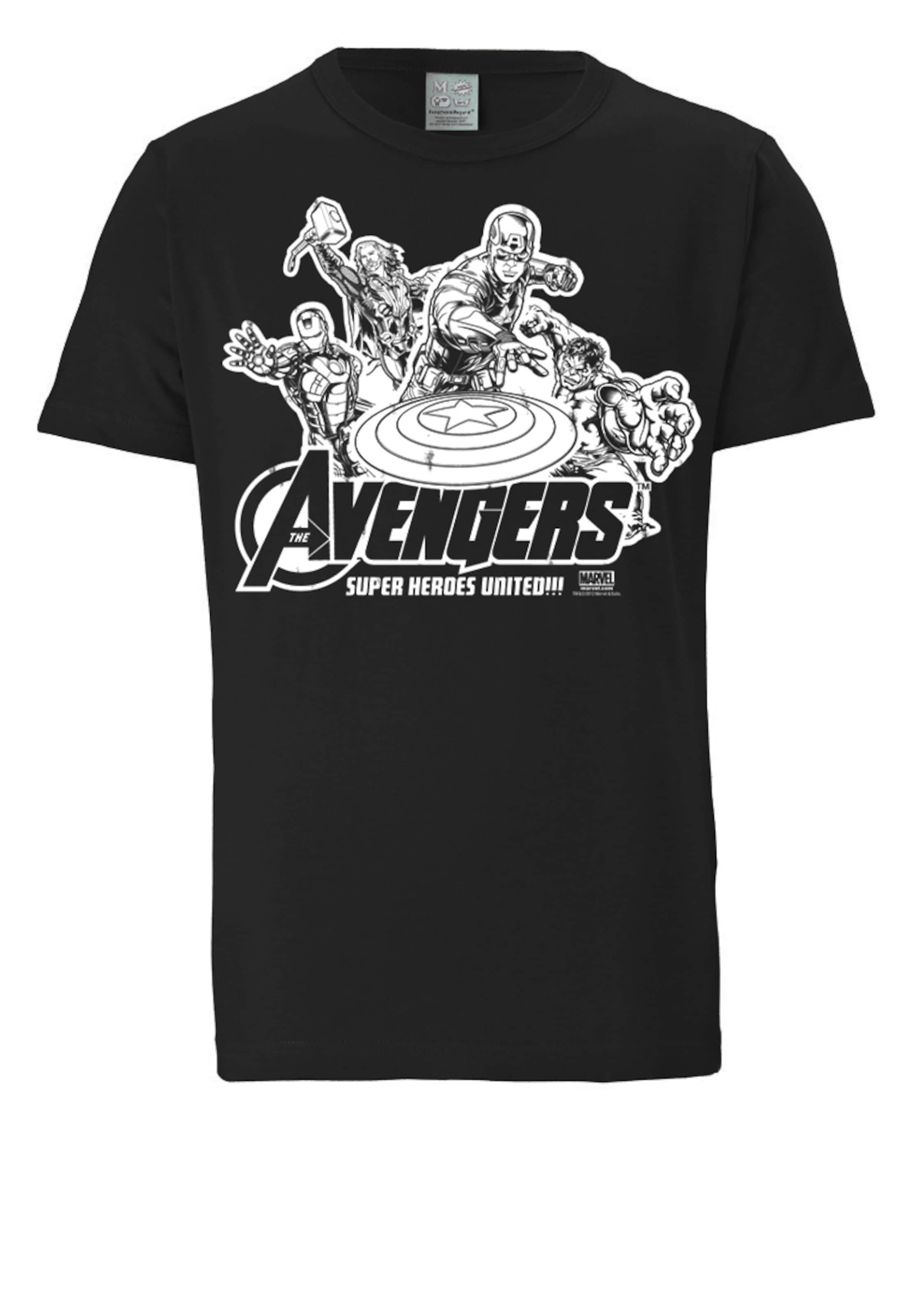 'avengers' SchwarzWeiß In Logoshirt shirt T R4jqAL53