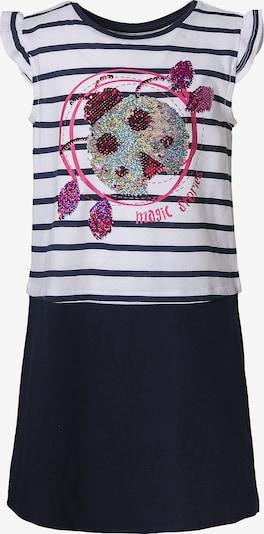 Desigual Kinderkleid in blau / pink / rot / silber / weiß, Produktansicht