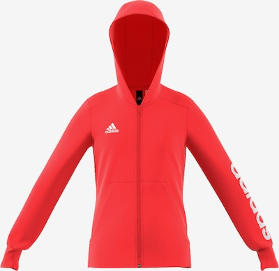 ADIDAS PERFORMANCE 'Essentials' Sweatjacke in koralle / weiß, Produktansicht