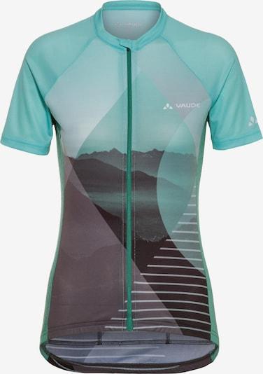 VAUDE Fahrradtrikot 'Majura FZ Tricot' in aqua / grau / schwarz, Produktansicht