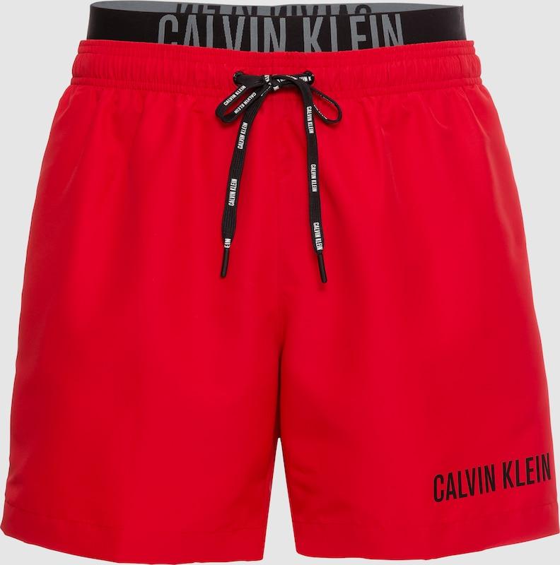 calvin klein swimwear badeshorts 39 medium double wb 39 in rot. Black Bedroom Furniture Sets. Home Design Ideas