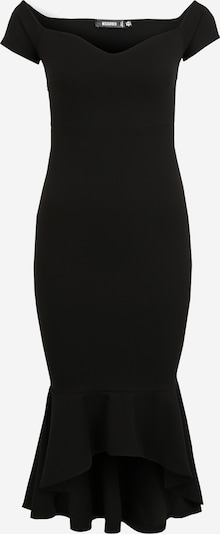 Missguided (Petite) Koktejl obleka | črna barva, Prikaz izdelka