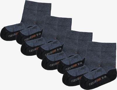 camano Socken in taubenblau / goldgelb / schwarz, Produktansicht
